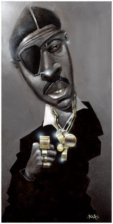 Slick Rick - 11x22 giclee on canvas - Justin Bua