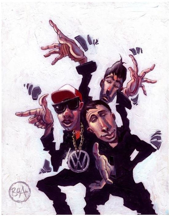 63c40cbf553 Beastie Boys - 14x17 giclee on canvas - Justin Bua – It s A Black ...