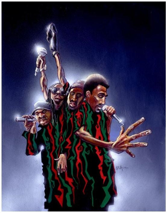 66f16379f74 A Tribe Called Quest - 20x24 giclee on canvas - Justin Bua – It's A ...