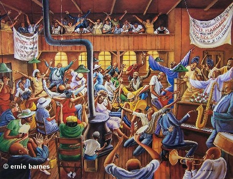 Solid Rock Congregation 24x32 Print Ernie Barnes It