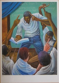 Each One Teach One - 24x18 limited edition giclee - Ernie Barnes