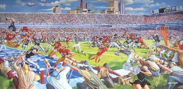 Victory in Overtime - 19x39 signed print - Ernie Barnes