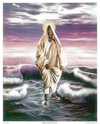 Christ Walking The Water -25x21 print - Allen & Aaron Hicks