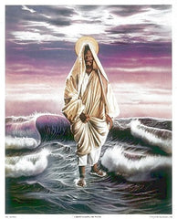 Christ Walking The Water -16x20 print - Allen & Aaron Hicks