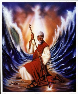 Moses Parting The Red Sea - 21x25 print - Allen & Aaron Hicks