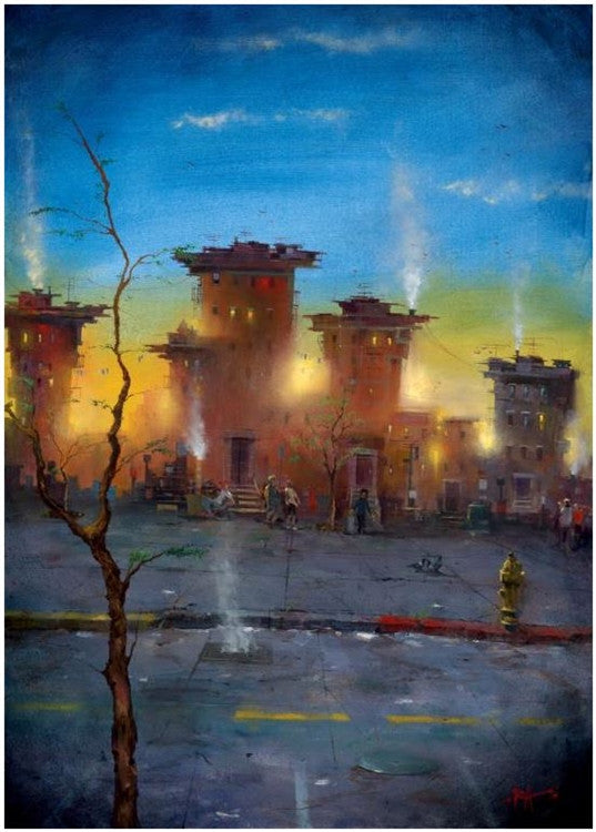 Bronx Tree - giclee on canvas - Justin Bua