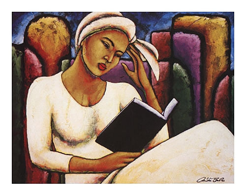 Deep In Thought - 23x30 print - LaShun Beal