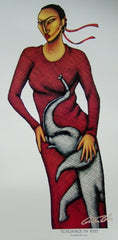 Elegance in Red - 9x21 print - LaShun Beal