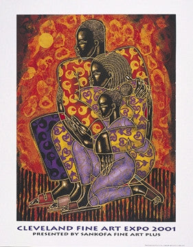 Sankofa 22x28 limited edition print - Larry Poncho Brown