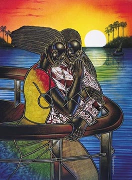 Cruise The Night Away 2 - 22x31 limited edition print - Larry Poncho Brown