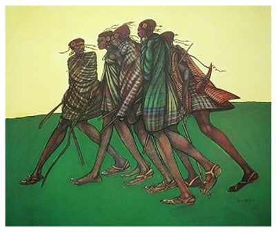 Herdsticks and Sandals - 25x21 - print - Charles Bibbs