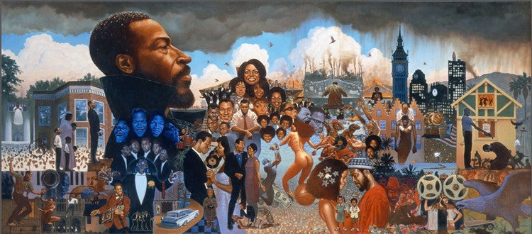 The Life of Marvin Gaye - 50x32 giclee on canvas - Kadir Nelson