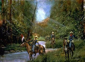 Buffalo Soldiers On Patrol - 22x28 limited edition print - Ted Ellis