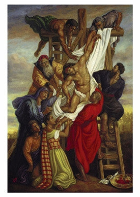 Descent From The Cross - 38x26 - print - Tim Ashkar