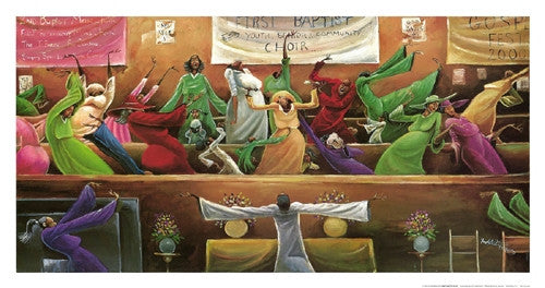 First Baptist Choir - 18x34 print - Frank Morrison
