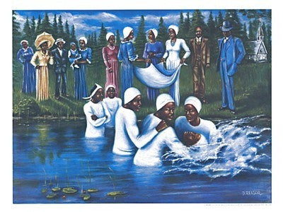 The Baptism - 18x24 - print - Don Reasor