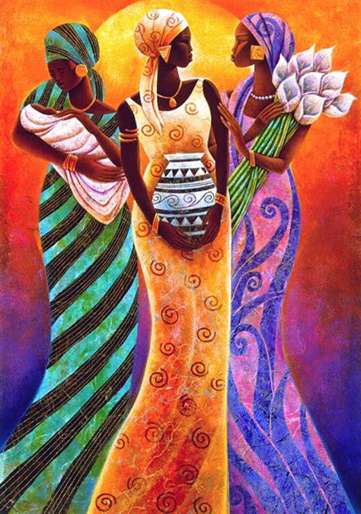 Sisters of the Sun - 21x30 limited edition print - Keith Mallett