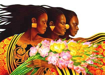 Three Sisters - 27x19 limited edition print - Keith Mallett