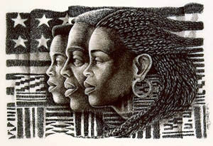 The African Americans - 11x16 limited edition print - Keith Mallett