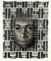 African Tapestry - 11x16 limited edition print - Keith Mallett
