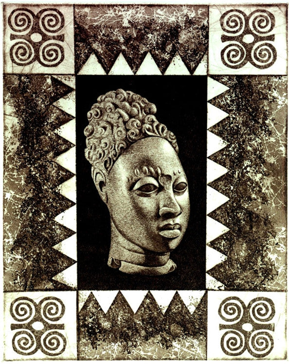 Benin - 11x15 limited edition etching - Keith Mallett