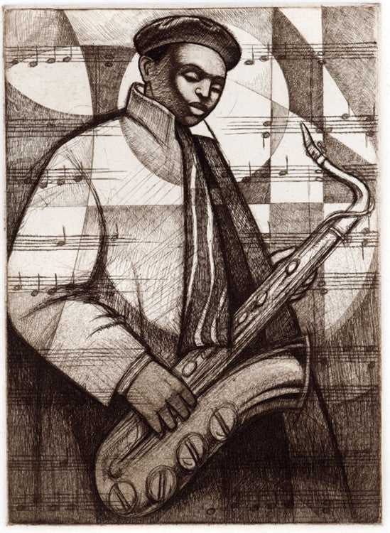 In A Mellow Tone - 8x11 limited edition etching - Keith Mallett
