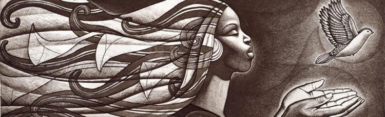 Exodus - 24x10 limited edition etching - Keith Mallett