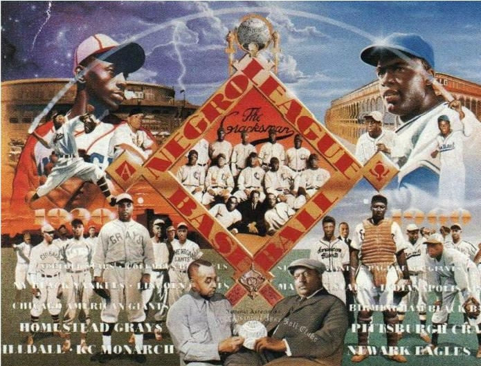 Negro League Baseball - 22x28 print - Edward Clay Wright