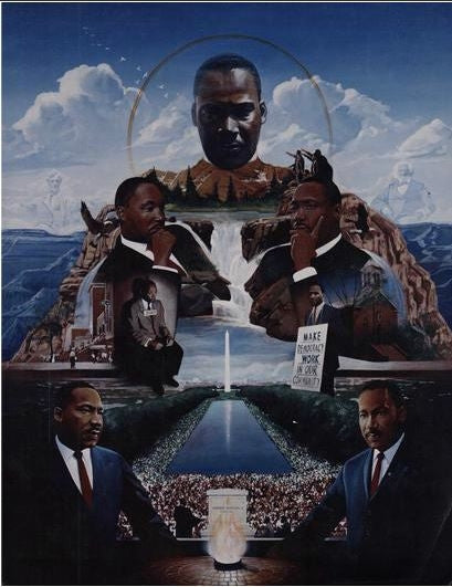 Martin Luther King Jr - 22x28 print - Edward Clay Wright