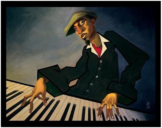 Piano Man II - 26x34 open edition - Justin Bua