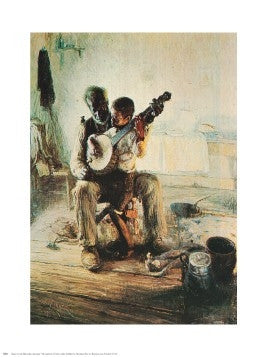 The Banjo Lesson - 30x24 - print - Henry Tanner