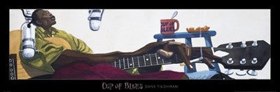 Cup of Blues - 12x36 - print - Dane Tilgham