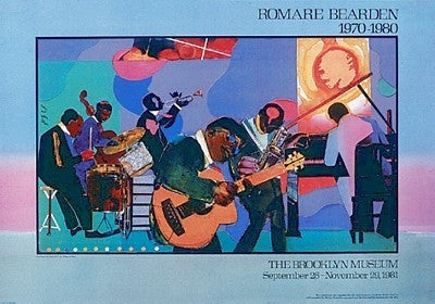 Jamming at the Savoy - 22x31 - print - Romare Bearden