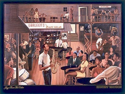 Jazz From The Cellar - 26x35 print - Ernest Watson