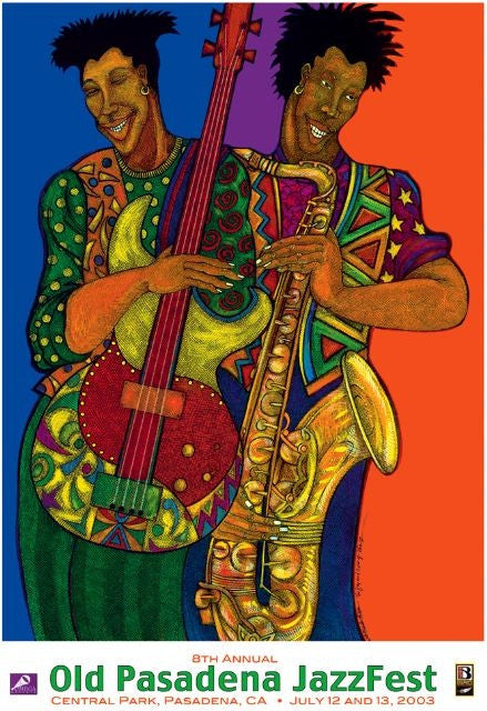 The Color of Jazz - 23x17 print - Charles Bibbs