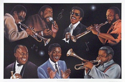 The Greatest of All Rhythm and Jazz - 24x36 - print - Jerome Brown