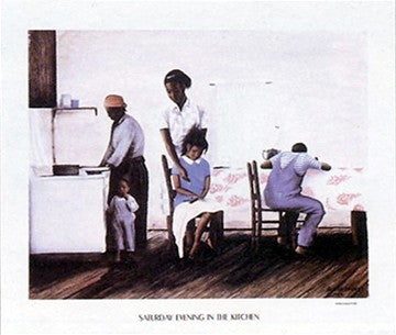 Saturday Evening In The Kitchen - 17x20 - print - Arthur Dawson