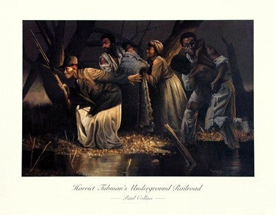Harriet Tubman's Underground Railroad - 22x28 - print - Paul Collins