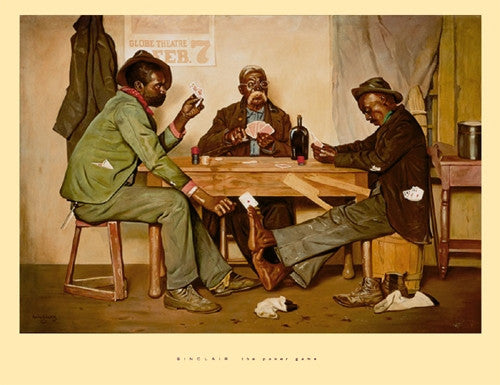 The Poker Game - 20x26 - print - Irving Sinclair