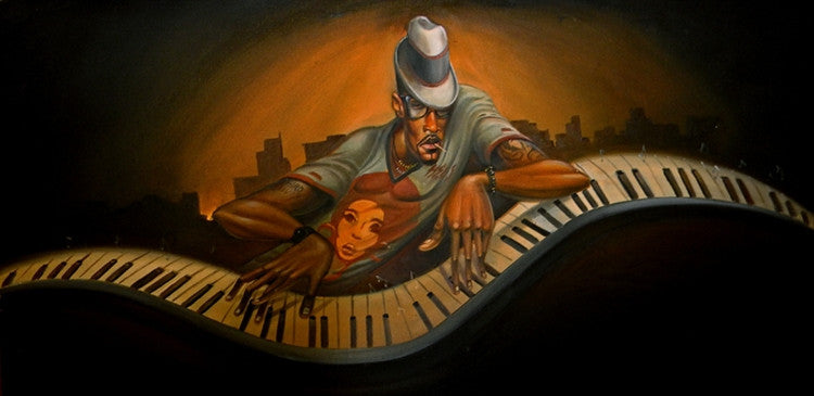 Grand Master Jazz - 18x36 giclee on canvas - Frank Morrison