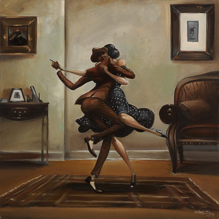 Swing Baby Swing - 16x16 giclee on canvas - Frank Morrison