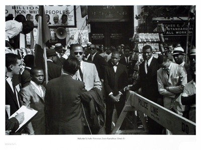 Malcolm X and Farrakhan - 18x24 photo poster - Klytus Smith