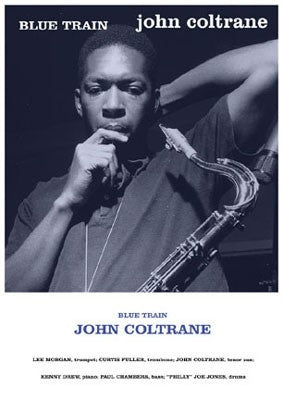 John Coltrane Blue Train - 36x24 photo poster - Francis Wolff