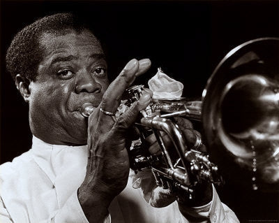 Louis Armstrong - 24x30 photo poster - William Gottlieb
