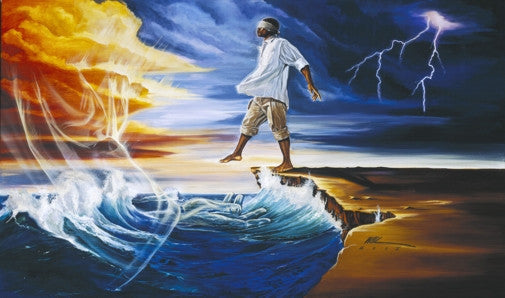 Step Out On Faith - male - 23x38 print - WAK