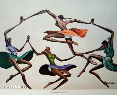 Ring Around The Rosie - 14x20 signed print - Ernie Barnes