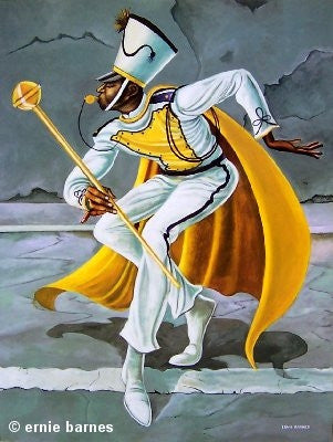 The Drum Major - 26x20 print - Ernie Barnes