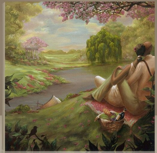 Romantic Rendezvous - 30x30 giclee on canvas - John Holyfield