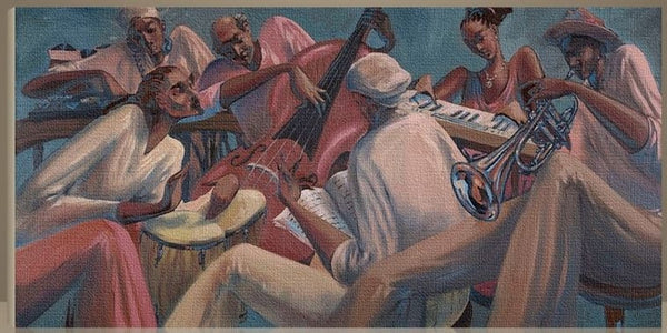 Rhythm And Rhyme 40x20 Giclee On Canvas John Holyfield