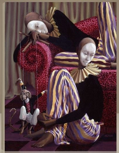 The Entertainers - 23x30 giclee on canvas - John Holyfield